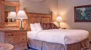 Lodge Room #1 offers a king bed and spa tub